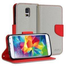 ขาย Gmyle เคสฝาพับ Samsung Galaxy S5 สีเทา สีแดง