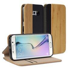 ขาย Gmyle เคสลายไม้ เคสฝาพับ สำหรับ Samsung Galaxy S6 Edge ลายไม้ไผ่ หนัง Pu Gmyle ผู้ค้าส่ง