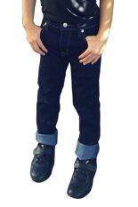 ขาย ซื้อ ออนไลน์ Golden Zebra Jeans กางเกงยีนส์เด็กขาเดฟ ผ้ายืด สีน้ำเงิน