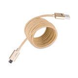 ขาย Golf 2M Metal Quick Charge Data Cable Micro Usb สำหรับ Samsung Android สายถัก สีทอง ถูก