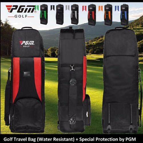 Golf Travel Bag Weels, Water Resistant, 3 Layers Special Protection by PGM