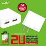 ขาย Golf Usb Wall Charge Adapter 2 Ports 2 1A 1A U202 White Golf ถูก