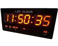 ส่วนลด Gooab Shop นาฬิกา Led ติดฝาผนัง แบบบาง ตัวเลข 3 นิ้ว ขนาด 18 นิ้ว ไฟสีแดง Gooab Shop