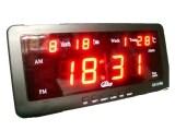 ราคา Gooab Shop นาฬิกาปลุก ตั้งโต๊ะ ติดผนัง Led พร้อมวันที่ ขนาด 7 นิ้ว ไฟสีแดง
