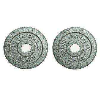 Gsports แผ่นน้ำหนัก ดัมเบล บาร์เบล ขนาดน้ำหนัก 2.5Kg (30mm.) Packคู่
