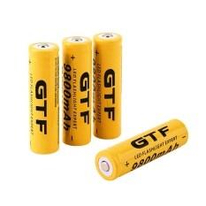 GTF ถ่านชาร์จ 18650 4ก้อน 3.7v 9800mah