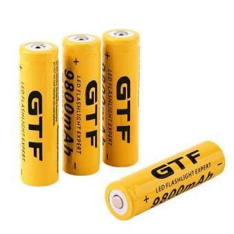 GTF ถ่านชาร์จ Li-ion 18650 คุณภาพสูง 9800mah 3.7v 4 ก้อน