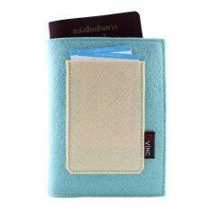 ราคา Gvinc กระเป๋าใส่หนังสือเดินทาง สีฟ้า ที่สุด