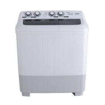 Haier เครื่องซักผ้า 2 ถัง รุ่น HWM-T100OX (สีขาว)