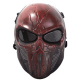 ขาย Halloween God Ghost Skull Cosplay Masquerade Mask Breatherable Airsoft Full Face Mask Paintball Protect Gear Equipment ถูก