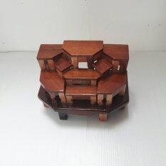 ขาย Hanuman Boxwood โต๊ะหมู่ 9 ไม้ประดู่แบบจำลองเล็ก Hb 0026 ถูก ใน Thailand