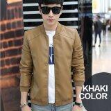 ซื้อ Happyu เสื้อแจ็คเก็ตหนัง Leather Jackets รุ่น Jj01 Light Brown ใหม่ล่าสุด