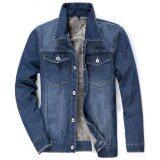 ขาย Happyu เสื้อยีนส์กันหนาวบุขนด้านใน Jacket Jeans Sc03 Grey เป็นต้นฉบับ