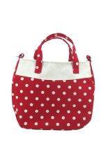 ซื้อ Hausgift กระเป๋าสะพายข้าง ผ้าคอตตอน ลายจุด สีแดง Hausgift