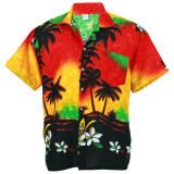 โปรโมชั่น Hawaiian Shirt เสื้อเชิ้ตฮาวาย Colorful Coconut Shade Holiday รุ่น Hw257R Red ถูก