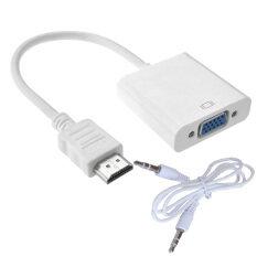 ขาย Hdmi Male To Vga Female Video Cable Cord Converter Adapter 1080P For Pc ใหม่