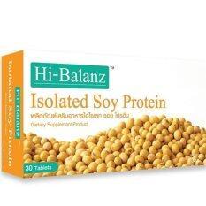 ส่วนลด Hi Balanz ไฮบาลาานซ์ โปรตีนสกัดถั่วเหลือง เพิ่ม ชดเชย ฮอร์โมนหญิง เอสโตรเจน Hibalanz Soy Protein 30เม็ด 1กล่อง Hi Balanz ไทย