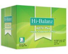 ซื้อ Hi Balanz Kdtx Plus อาหารเสริมล้างสารพิษทั้งระบบ 10 ซอง กล่อง ใหม่ล่าสุด