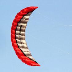 คุณภาพสูง 2.5 เมตรสีแดงคู่สายพาราฟอยล์ Kite Withflying เครื่องมือ Power Braid Sailing Kitesurf Rainbow Sports Beach By Varanasi.