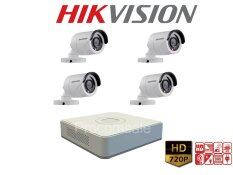 Hikvision (( Camera Set 4 )) HD720P (DS-2CE16C0T-IR x 4,  DS-7104HGHI-F1 x 1) HIKVISION SET 4Channel Turbo HD 720P 4 Camera 1 DVR