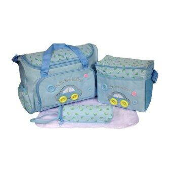 Hisomart กระเป๋าสัมภาระคุณแม่ (สีฟ้า)