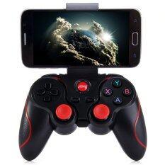 Hitech Gamepad Bluetooth T3 จอยเกมส์ไร้สายสำหรับโทรศัพท์มือถือ แท๊ปเล็ต คอมพิวเตอร์ (Black)