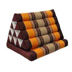 ราคา หมอนสามเหลี่ยม 10 ช่อง 1 พับ สีน้ำตาล ส้ม Praemai