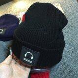 ส่วนลด หมวกไหมพรม Music สีดำ Unbranded Generic กรุงเทพมหานคร