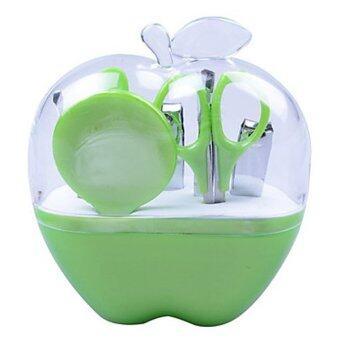 Home Studio ชุดกรรไกรตัดเล็บ 9 ชิ้น กรรไกรตัดเล็บ ทรงแอปเปิ้ล - สีเขียว