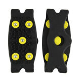 โปรโมชั่น Hot Snow Ice Climbing Anti Slip Spikes Grips Crampon Cleats 5 Stud Shoes Cover Black ใน จีน
