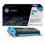 Hp 124A Q6001A Cyan ใช้กับเครื่องรุ่น Color Laserjet 2600 2605 1600 หมึกแท้ รับประกันศูนย์ เป็นต้นฉบับ