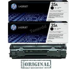 ซื้อ Hp 35A Cb435Ad แพ็คคู่ สีดำ หมึกแท้รับประกันศูนย์ Hp เป็นต้นฉบับ