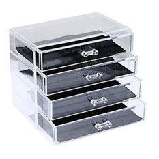 ราคา Hp Gift Shop New Acrylic Cosmetic Organize 4 Drawer ลิ้นชักอะคริลิค 4 ชั้น ที่สุด
