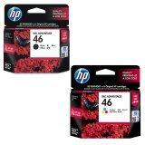โปรโมชั่น Hp Inkjet 46 รุ่น Cz637Aa Black Hp Inkjet 46 รุ่น Cz638Aa Tri Color C M Y