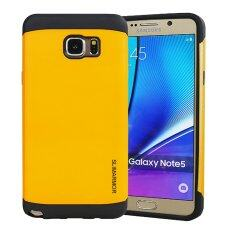 ราคา Hybrid Dual Layer Tpu Pc Shockproof Slim Fit Armor Shock Back Case For Samsung Galaxy Note 5 N9200 N920A N920C Yellow ราคาถูกที่สุด