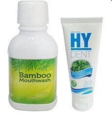 ขาย ซื้อ Hylife Bamboo Mouthwash 1ขวด Hy Dent ยาสีฟันไฮเด็นท์ 1หลอด
