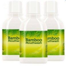 โปรโมชั่น Hylife Bamboo Mouthwash น้ำยาบ้วนปาก ขจัดคราบหินปูน ชา กาแฟ 3ขวด 300 Ml ไทย