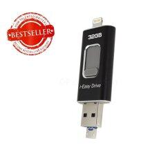 i-Easy Drive i-Flash Drive  32Gb With Micro USB 3.0 Memory Extrenal For IOS & Android (black)