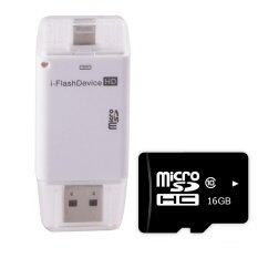 i-FlashDevice iEasy Drive HD External Storage For IOS (White)+Micro SD Card 16Gb