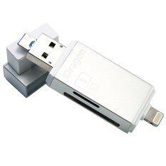 ขาย I Flashdrive Hd Card Reader Micro Sd Sd Card Usb 3 With Lightning For Ios Android Silver I Flashdrive Hd ผู้ค้าส่ง