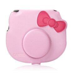ราคา Mulba Pu Leather Camera Case Bag For Fujifilm Cheki Instax Mini C577 Pink เป็นต้นฉบับ