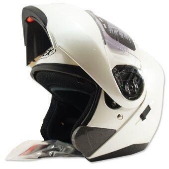 INDEX หมวกกันน๊อค ENZO หน้ากาก 2 ชั้น+ เปิดคาง (สีขาว)
