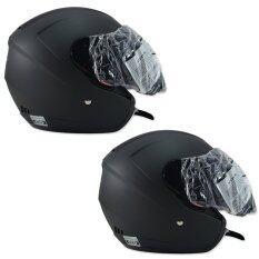 ราคา Index หมวกกันน๊อค รุ่น Monza สีดำด้าน 2 ใบ ใหม่ล่าสุด