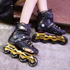 ส่วนลด Inline Skates Professional Slalom *D*Lt Roller Skating Shoes Sliding Free Skating Gold Unbranded Generic จีน