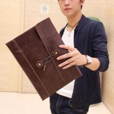 ขาย Int Decor กระเป๋าหนัง Men Clutch Bag Briefcase แฟชั่นเกาหลี สีน้ำตาล Thailand