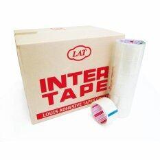 โปรโมชั่น Inter เทปกาวใส Inter Tape ขนาด 2นิ้ว ยาว45หลา 1 ลัง 72ม้วน ถูก