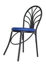 ซื้อ Inter Steel เก้าอี้เหล็ก มีพนักพิง รุ่น Ch555 โครงสีดำ เบาะสีน้ำเงิน ไทย