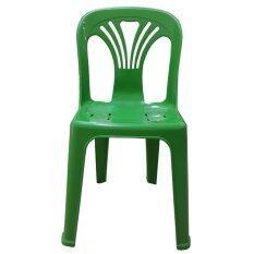 ขาย Inter Steel เก้าอี้พลาสติก มีพนักพิง รุ่นหลังW สีเขียว Inter Steel ใน ไทย