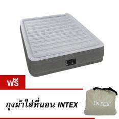 ขาย Intex 67768 Fiber Tech Technology ที่นอนเป่าลมไฟฟ้าในตัว ขนาด 4 5 ฟุต ฟรี ถุงผ้าใส่ที่นอนเป่าลม Intex เป็นต้นฉบับ