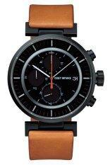ซื้อ Issey Miyake นาฬิกาข้อมือผู้ชาย รุ่น Silay006 สายหนังสีน้ำตาล หน้าปัดสีดำ Issey Miyake เป็นต้นฉบับ